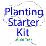 Urban Farm Planting Kit - Multi Tree &  Garden Starter Bundle